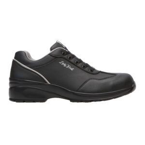 Himalayan Ladies Black Microfibre Lace Safety Shoe with PU Sole 2502