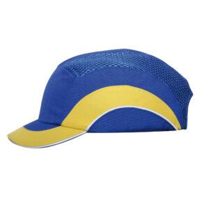 JSP Hardcap A1+ 5cm Short Peak - Blue/Yellow ABS000-008-200